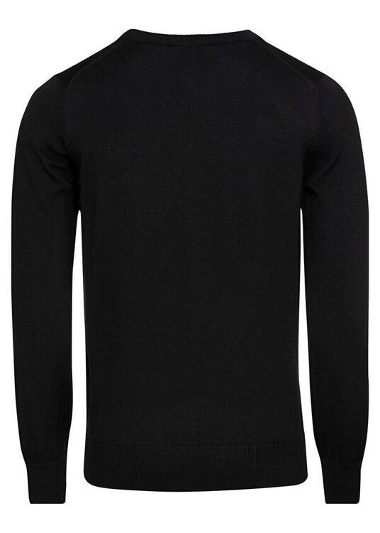 R-NECK PULLOVER TRICOLOR FOX PATCH image number 1