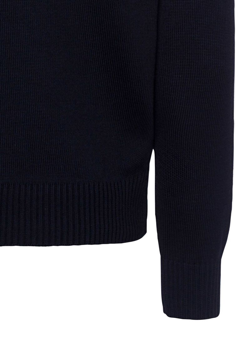 MEN'S KNITTED SWEATER C.W.WOOL, Blau, large image number 3
