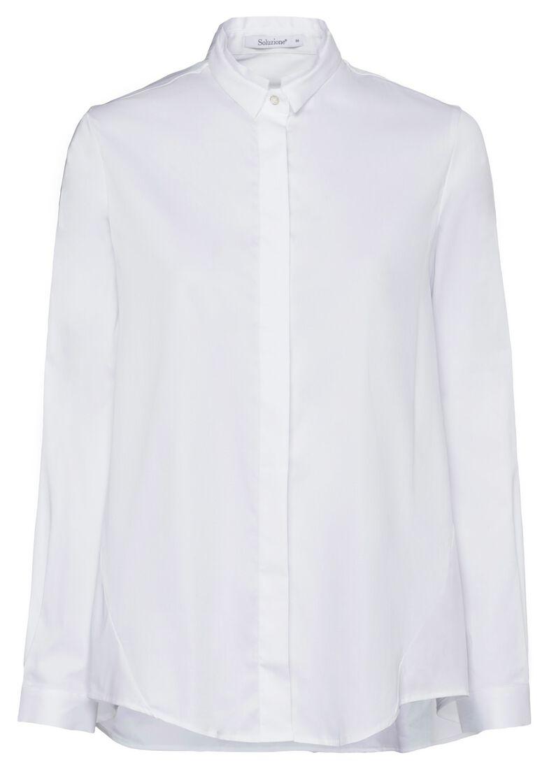 SCT-Shirt weiss-leichte Vokuhila-Doppelkr., Weiß, large image number 0