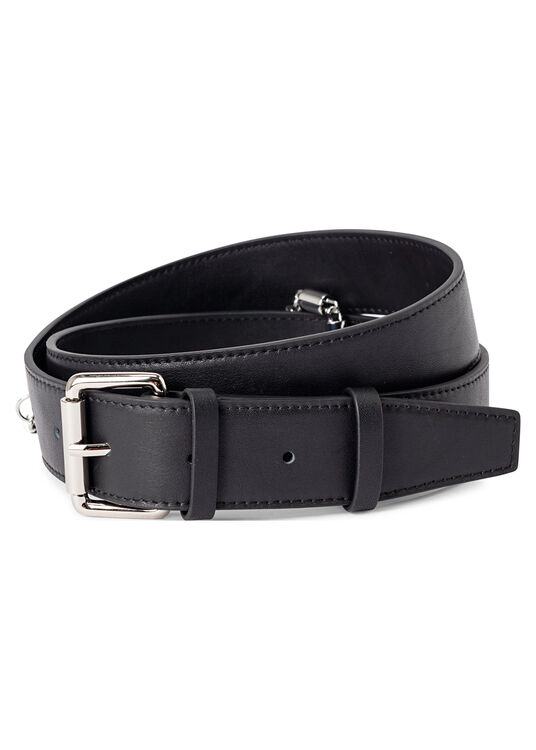 LEATHER BELT W/ CHAIN image number 0