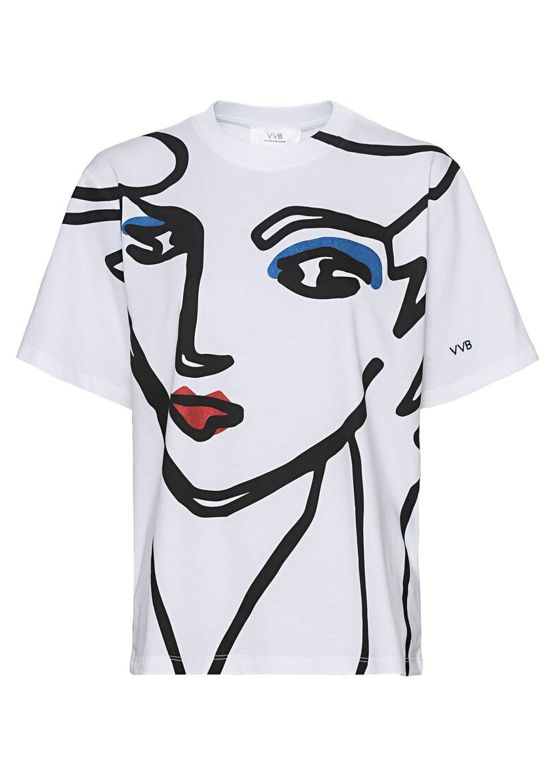 BEAUTY FACE T-SHIRT, Weiß, large image number 0