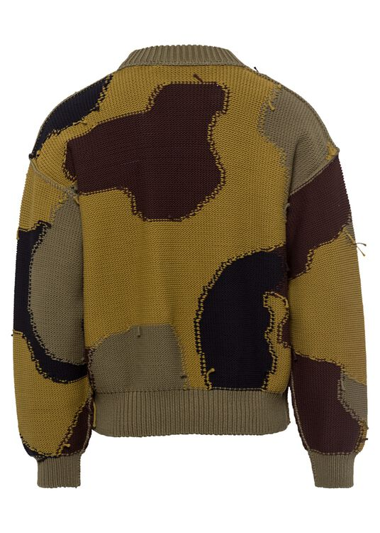 CAMO PRINTED SWEATER image number 1