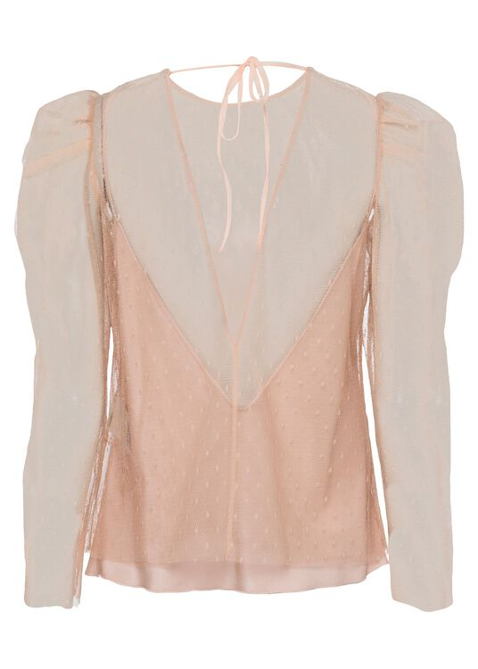 COORD. CAMICIA M/L SOFT POINT D'ESPRIT, Rosa, large image number 1