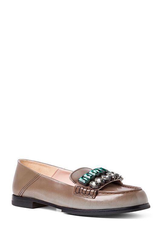 Loafer Crystals Brushed Leather image number 1