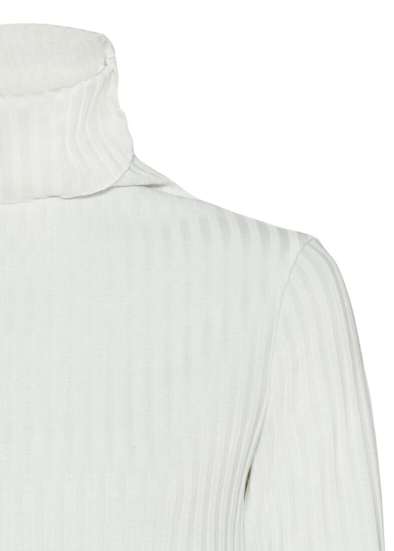 rib longsleeve turtleneck, Weiß, large image number 2