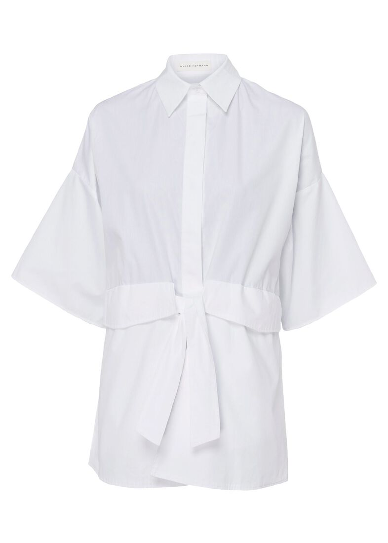 Shirt with detachable pockets, Weiß, large image number 0