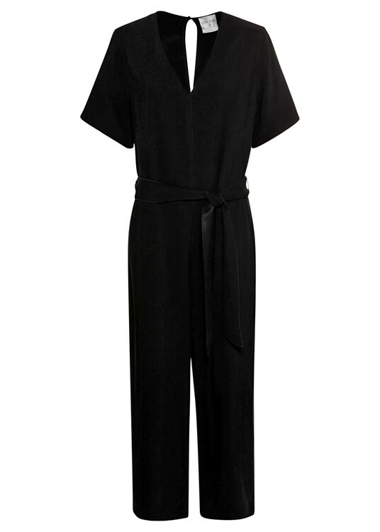 washed cupro twill jumpsuit image number 0