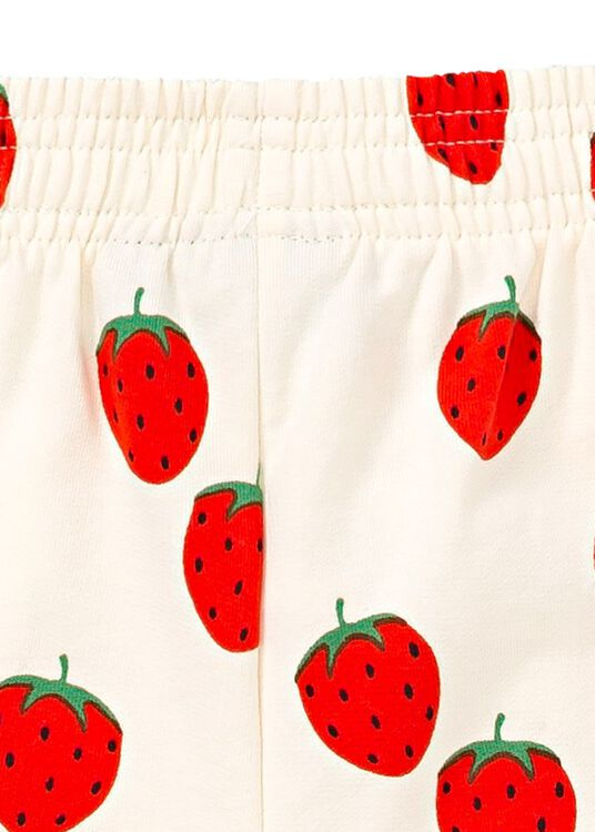 Strawberry AOP Sweat Shorts image number 3