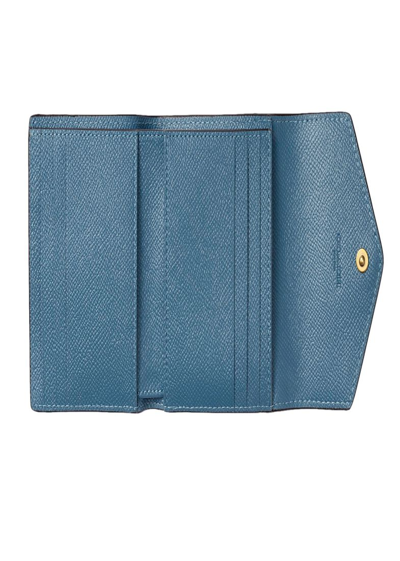 crossgrain leather small wallet, Blau, large image number 3