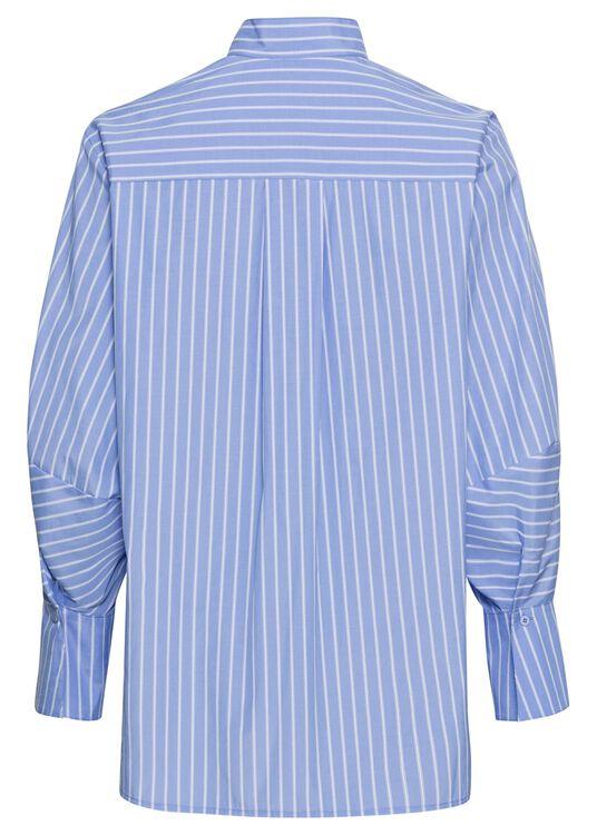 Schluppen-Bluse mit Streifen image number 1