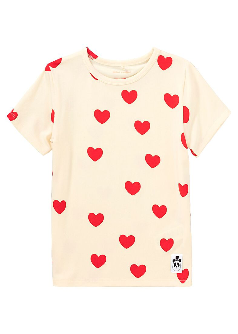 Heart SS Tee, Beige, large image number 0