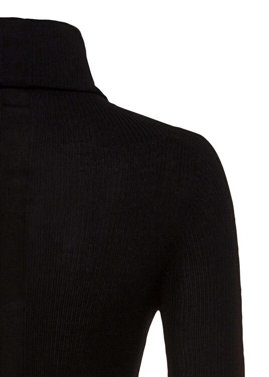 MAGLIA - RIBBED LS TUBE, Schwarz, large image number 3