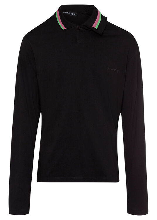 THREE NECK LONG SLEEVE POLO image number 0