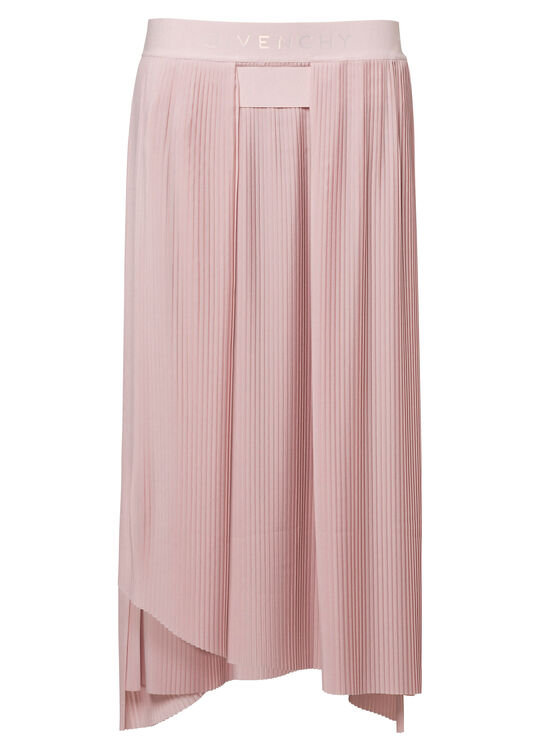 LONG ASYMETRICAL PLEATED SKIRT image number 0
