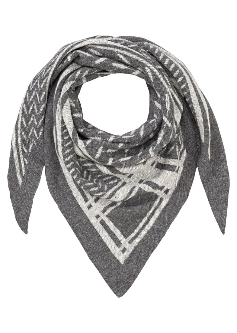 Triangle Goober Scarf 100% Cashmere, Grau, large image number 0