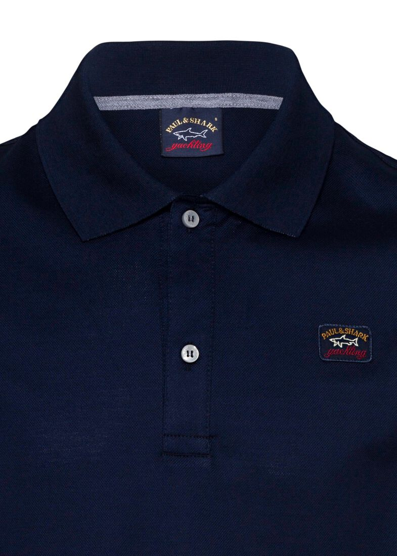 MEN'S KNITTED POLO SHIRT C.W. COTTON, Blau, large image number 2