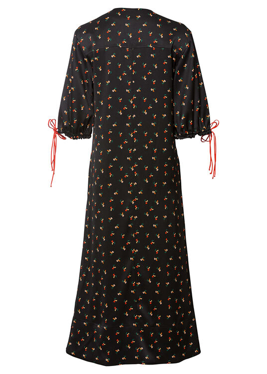 PUFF SLEEVE MAXI DRESS image number 1