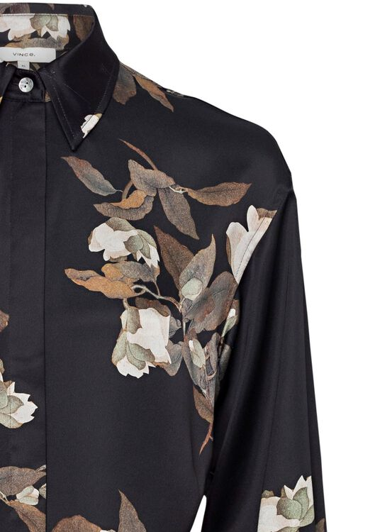 LISIANTHUS TIE FRONT SHIRT DRESS image number 2