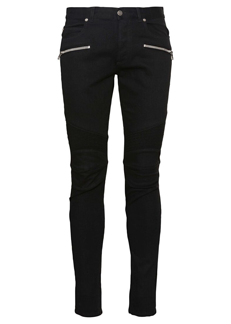 RIBBED SLIM JEANS-ONE WASH, Schwarz, large image number 0