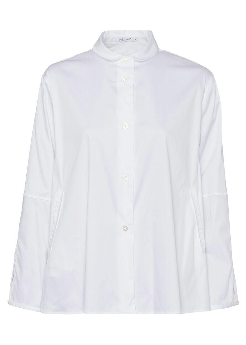 SCT-Shirt weiss-Bubikragen-Kellerfalte, Weiß, large image number 0