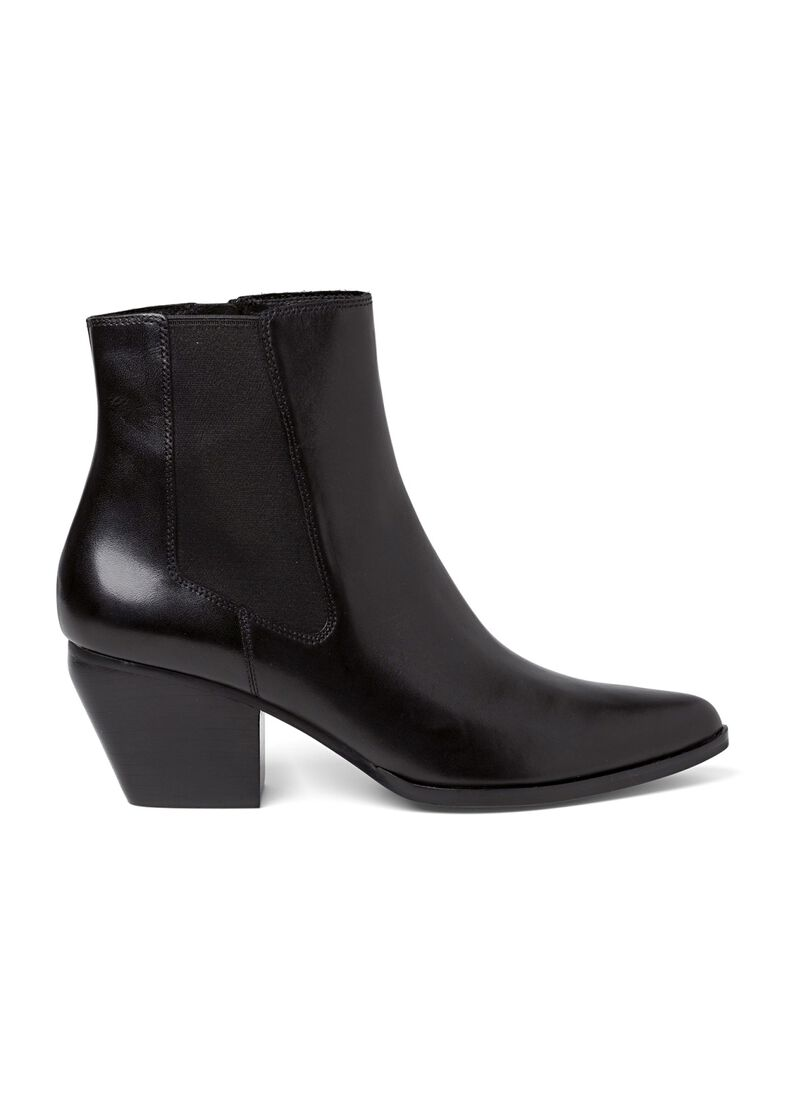 7_Scavo Pointy Boot Calf, Schwarz, large image number 0