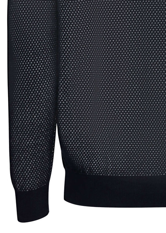 TWO TONE TEXTURE C-NECK image number 3