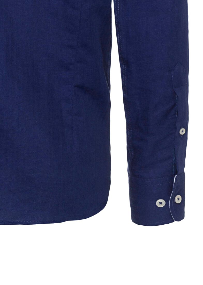 NAVY HBONE MLTI TRIM, Blau, large image number 3