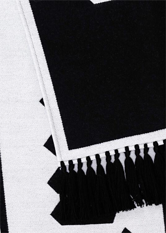 MACRO LOGO SCARF  BLACK WHITE image number 1