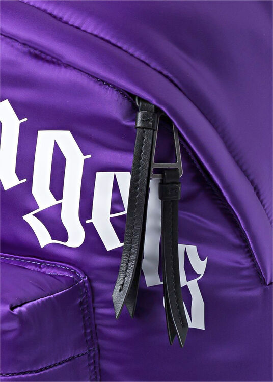 CURVED LOGO BACKPACK  PURPLE  WHITE image number 2