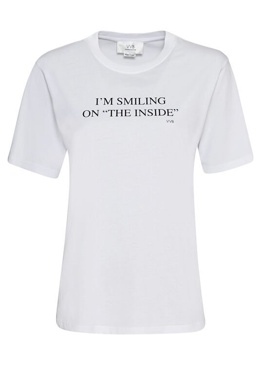 I'M SMILING ON THE INSIDE T-SHIRT image number 0