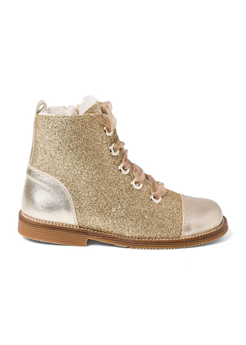 Wool Lines Glitter Boot, Gold, large image number 0