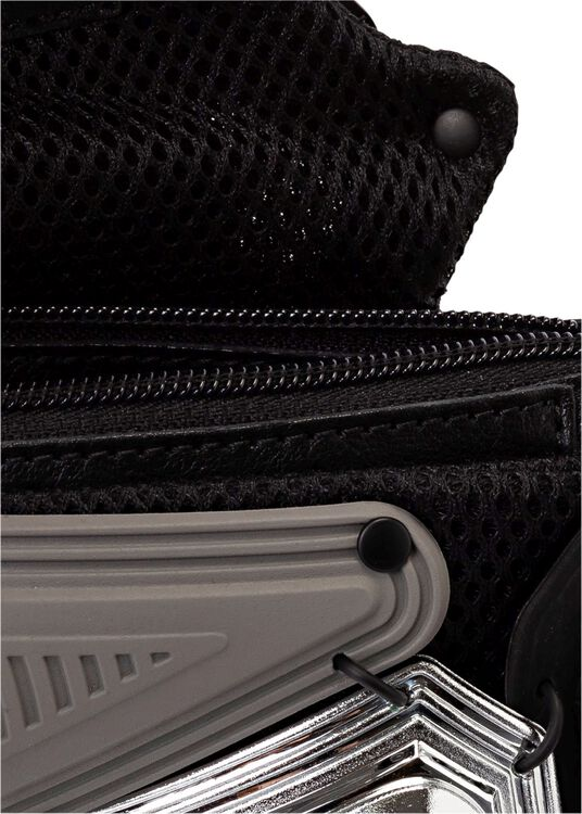 CLUTCH/CROSS BODY BAG SILVER MIX_BLACK image number 3
