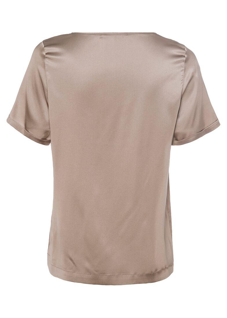 (S)NOS Satinsilk Shirt, Beige, large image number 1
