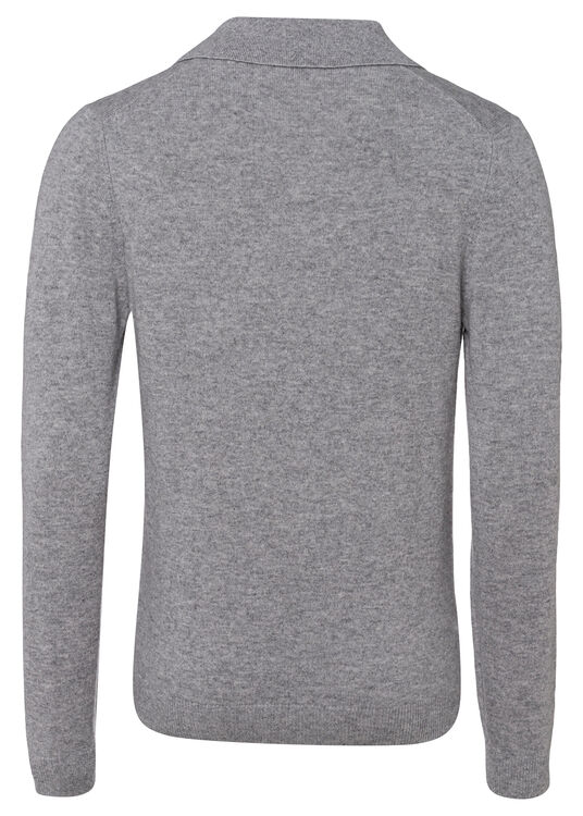 Cashmere Polo Shirt LS image number 1