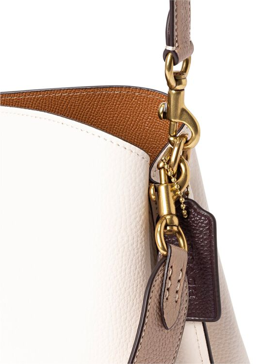 colorblock leather willow shoulder bag image number 2