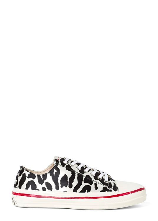 Low Top Sneaker Zebra Print image number 0