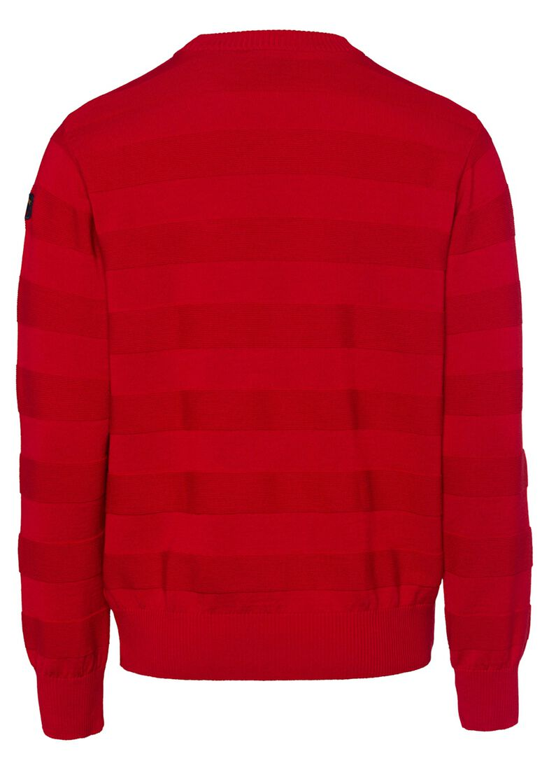MEN'S KNITTED ROUNDNECK C.W. WOOL, Rot, large image number 1