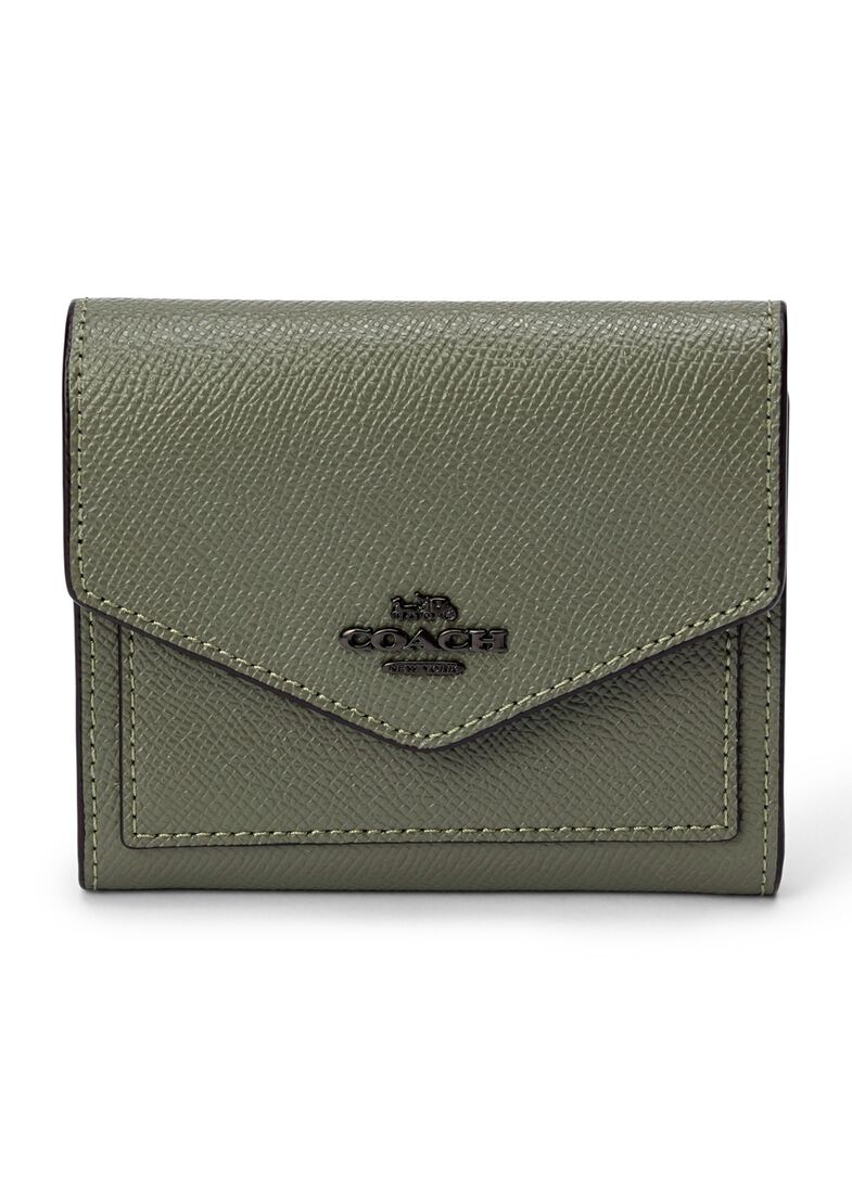 crossgrain leather small wallet, Grün, large image number 0