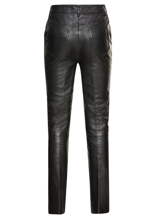 STRAIGHT LEG LEATHER TROUSER image number 1