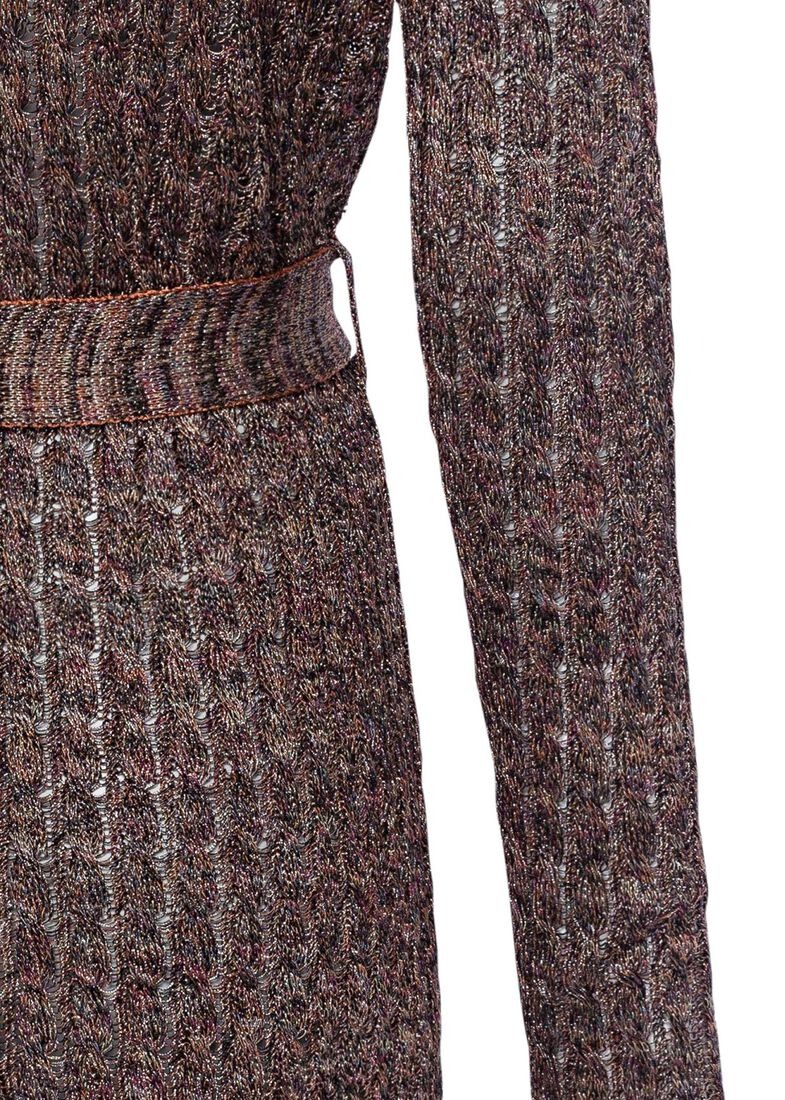 CARDIGAN - TRECCE LAME' - MULTI, Rosa, large image number 3