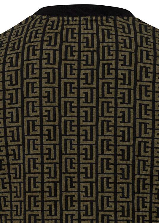 ALL OVER MONOGRAM JACQUARD SWEATSHIRT image number 3