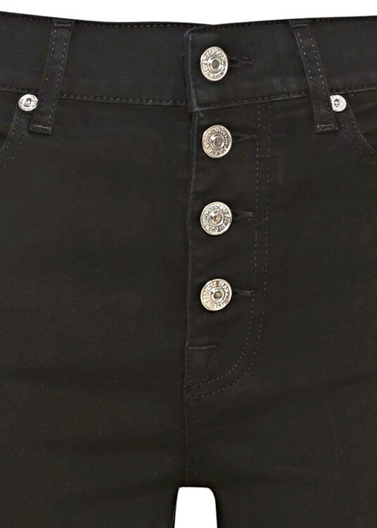 THE STRAIGHT CROP Bair Rinsed Black with Exposed Buttons image number 2