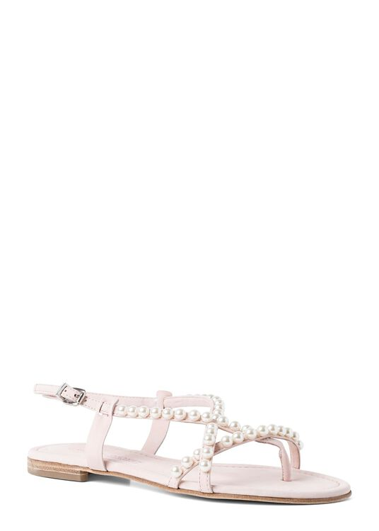 23_Elle Pearls Flat Sandal image number 1
