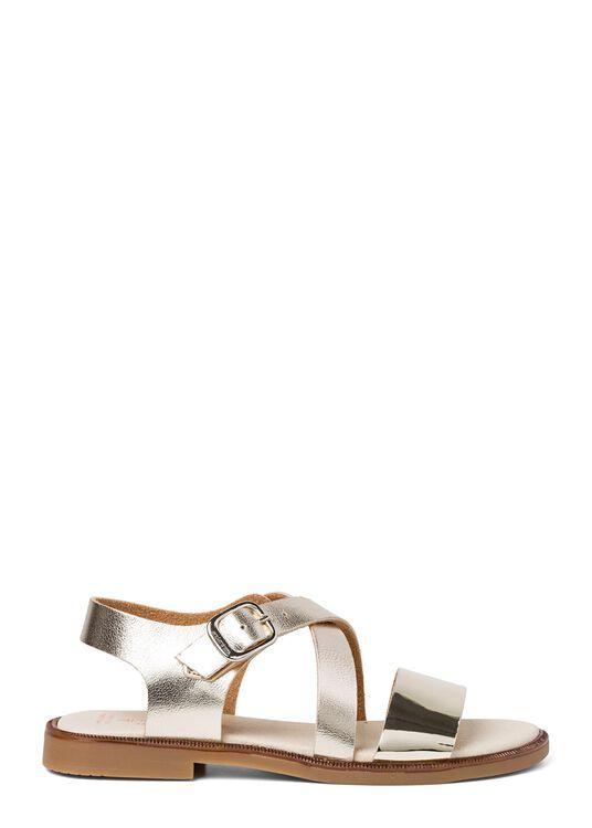 Cross Sandal Metallic, Gold, large image number 0