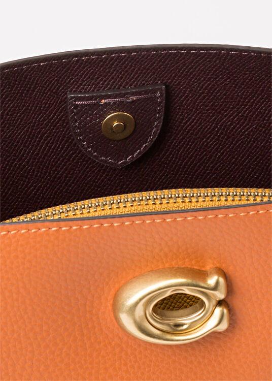 colorblock leather willow shoulder bag image number 3