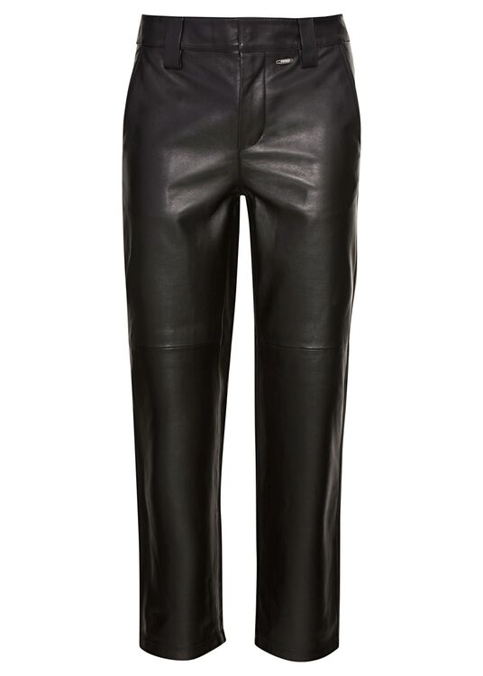 LEATHER WORK PANTS image number 0
