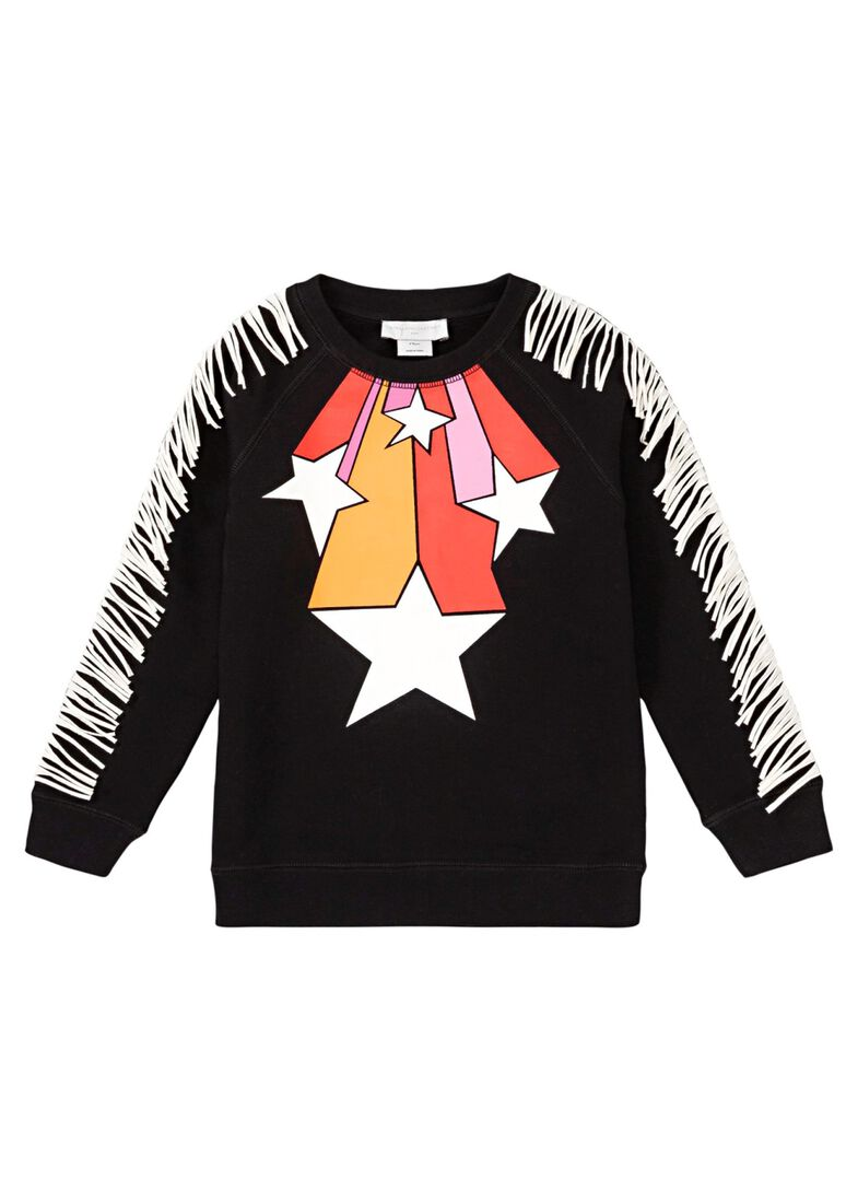 Stars Fringes Crew Neck, Schwarz, large image number 0