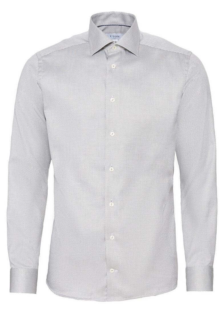1000012816545 Men shirt: Business casual / Dobby, Grau, large image number 0