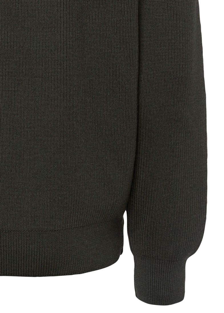 MEN'S KNITTED SWEATER C.W.WOOL, Grün, large image number 3