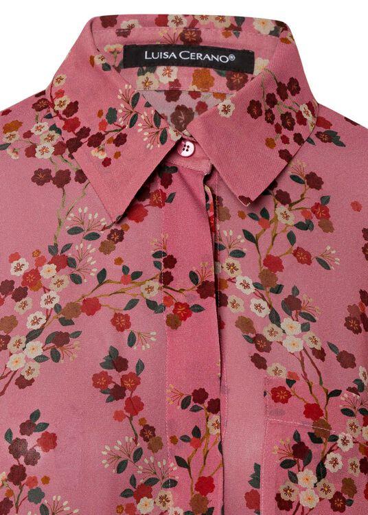 Bluse mit Kirschblüten-Print image number 2